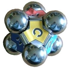 Ensemble de 6 particules